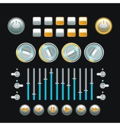 Button Set Colored vector image
