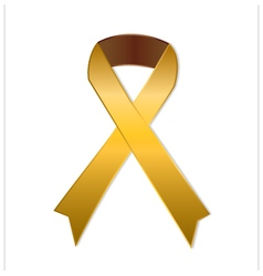 Gold ribbon on white background vector