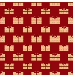 Gift boxes holiday seamless pattern vector