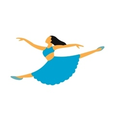 New dance flat symbol vector