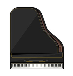 Flat style grand piano vector