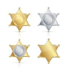 Shefiff badge star set vector