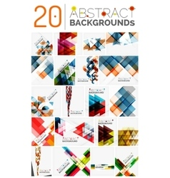 Collection of various abstract backgrounds vector
