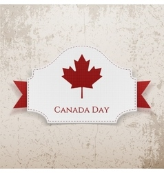 Canada day holiday emblem with ribbon vector