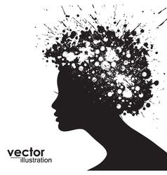 Woman face silhouette vector image
