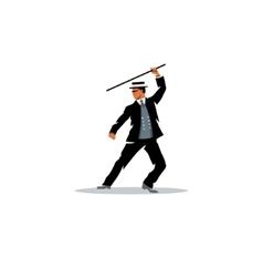 Bartitsu mixed martial arts a man with a cane vector