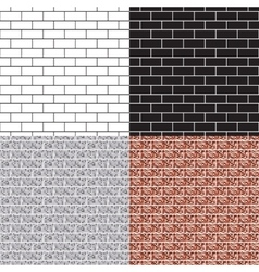 Brickwork seamless pattern set vector