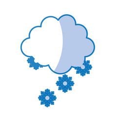 Cloud with snowflakes icon vector
