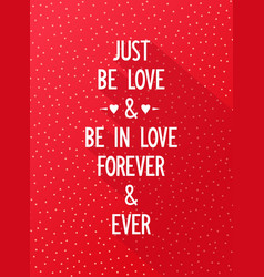 Creative banner with romantic wishes vector