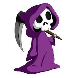 Cute grim reaper vector