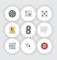 Flat icon entertainment set of poker mahjong vector