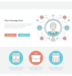 Flat line search employee concept vector
