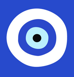 Greek evil eye - symbol of protection vector