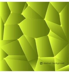 Green triangles background vector image vector image