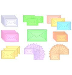 groupes of envelopes vector image vector image