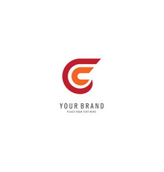 letter c finance logo vector image
