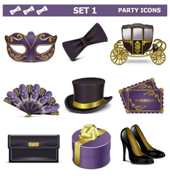Party icons set 1 vector