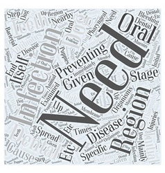 Preventing dental disease word cloud concept vector
