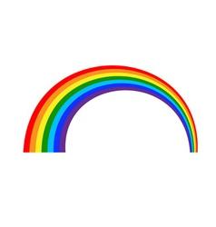 Rainbow icon cartoon 1 vector image vector image