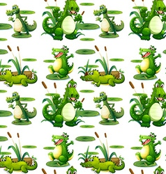 Seamless crocodile in the pond vector image vector image