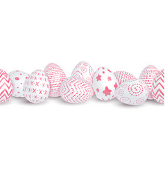 seamless easter border vector image vector image