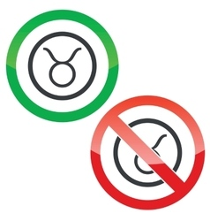 Taurus permission signs vector