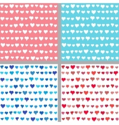 Valentine backgrounds from painted hearts vector image