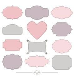 Vintage romantic frames set Valentines design vector image vector image