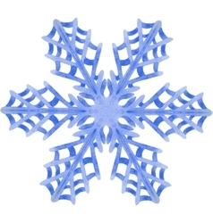 Watercolor snowflake on white background vector