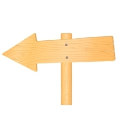 Wooden road sign arrow vector image