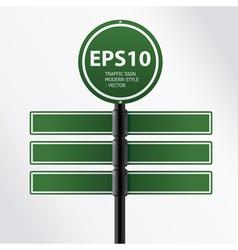 modern green traffic sign vector image