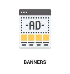 Banners icon concept vector