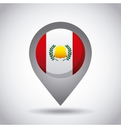 Peru flag pin vector