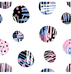 Textured circles pattern vector