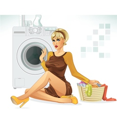 laundry vector image