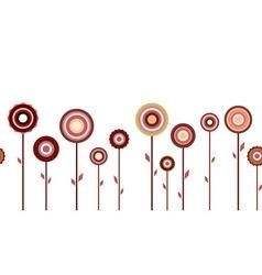 Horizontal seamless flower pattern vector image