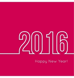Creative happy new year 2016 design vector