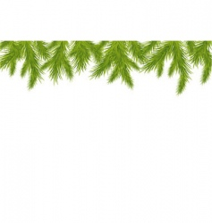 Christmas tree border vector