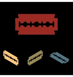 Razor blade icon set vector
