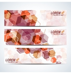 Set of the horizontal banners background vector