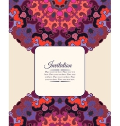 Card or invitation vintage decorative ornament vector