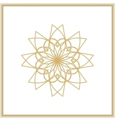 Gold mandala or geometrical element for decoration vector
