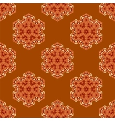 Creative ornamental seamless orange pattern vector