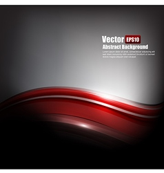 Abstract background dark red and grey with curve vector image