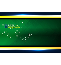 Abstract banner brazil backgrounds vector