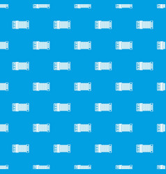 Accordion pattern seamless blue vector