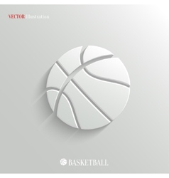 Basketball icon - white app button vector
