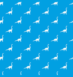 brachiosaurus dinosaur pattern seamless blue vector image vector image