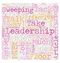 Can leadership help your career text background vector