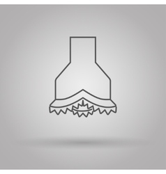 chisel icon oil and gas industry vector image